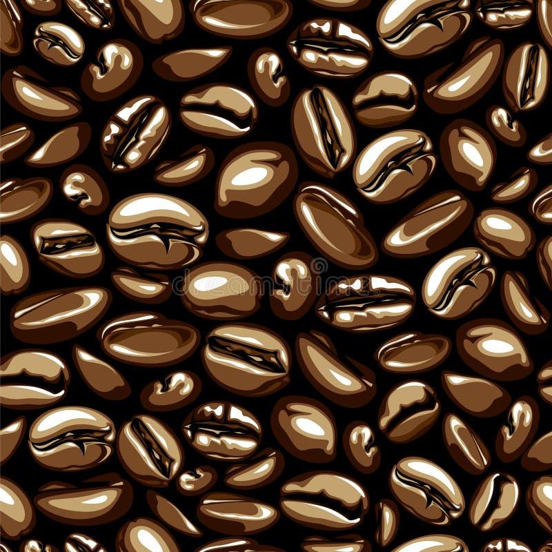 seamless vektor för kaffe stock illustrationer