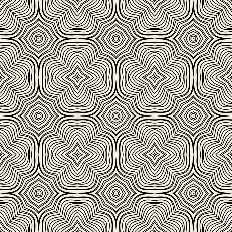 seamless vektor för modell abstrakt bakgrund Upprepa som är geometriskt royaltyfri illustrationer