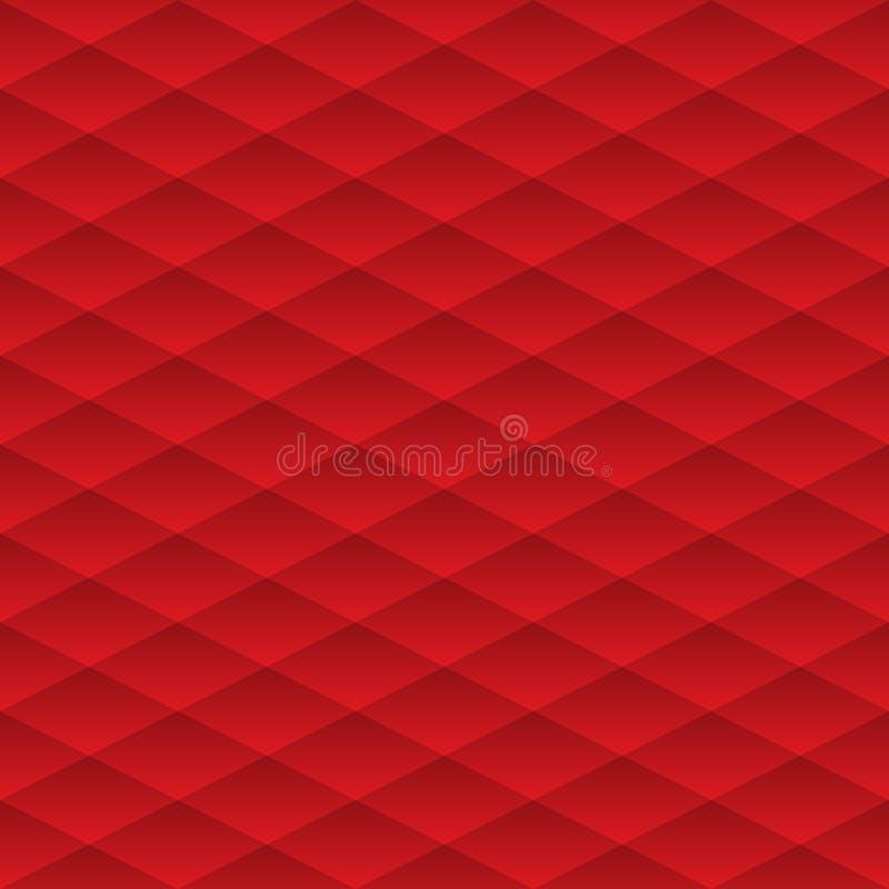 seamless vektor för modell Den geometriska volymen med en lutningmodell Röd geometrisk neutral bakgrund stock illustrationer