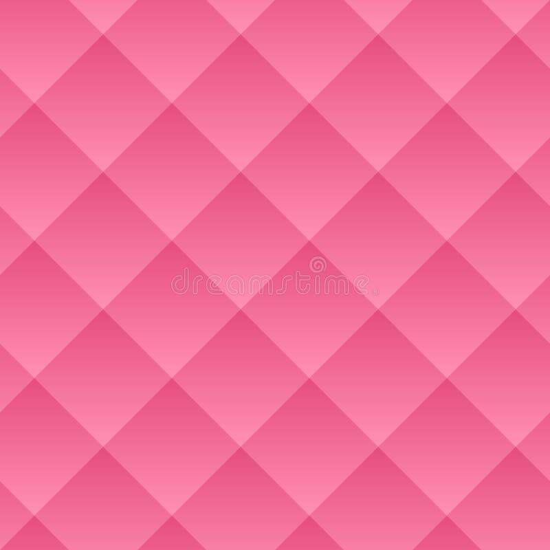 seamless vektor för modell Den geometriska volymen med en lutningmodell Rosa geometrisk neutral bakgrund vektor illustrationer