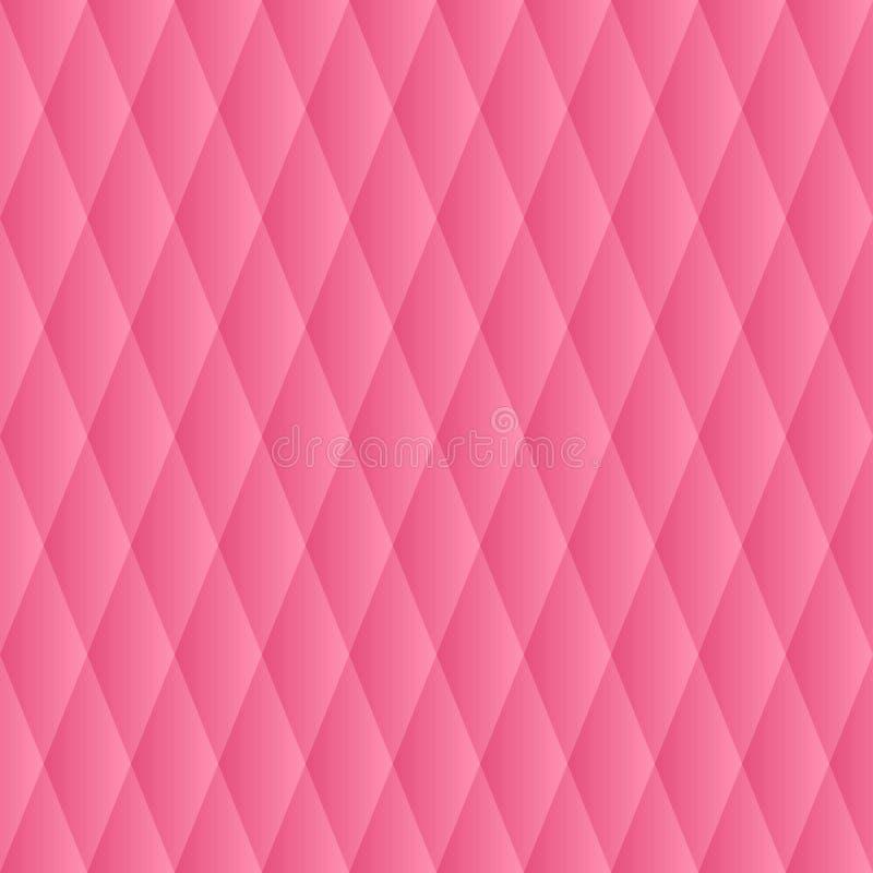 seamless vektor för modell Den geometriska volymen med en lutningmodell Rosa geometrisk neutral bakgrund stock illustrationer