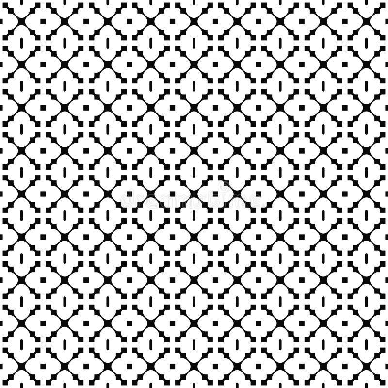 seamless vektor för modell Elegant geometrisk textur Svartvit bakgrund Monokrom design vektor illustrationer