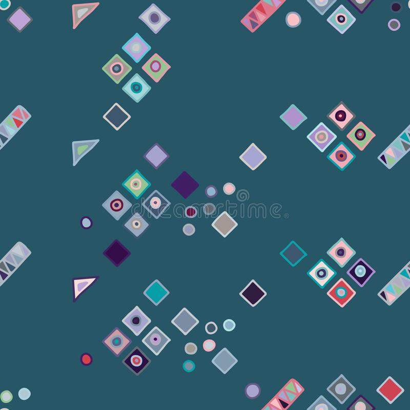seamless vektor för modell geometrisk bakgrund med utdragna dekorativa stam- beståndsdelar för hand Tryck med etniskt, folk, trad stock illustrationer