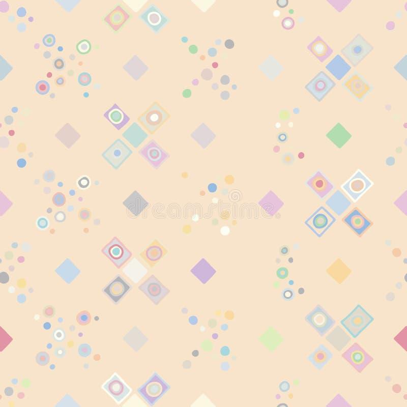 seamless vektor för modell geometrisk bakgrund med utdragna dekorativa stam- beståndsdelar för hand Tryck med etniskt, folk, trad vektor illustrationer