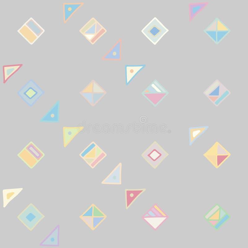 seamless vektor för modell geometrisk bakgrund med utdragna dekorativa stam- beståndsdelar för hand Tryck med etniskt, folk, trad royaltyfri illustrationer
