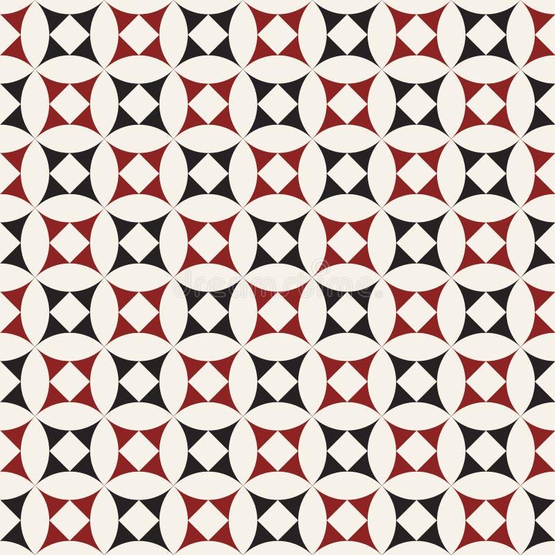seamless vektor för modell geometriska tegelplattor royaltyfri illustrationer