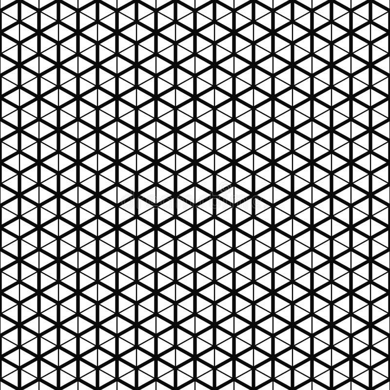seamless vektor för modell Kubrastertextur Svartvit bakgrund Monokrom linje design stock illustrationer