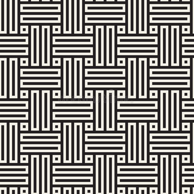 seamless vektor för modell Modern stilfull abstrakt textur Upprepa geometriska fläta samman linjer royaltyfri illustrationer