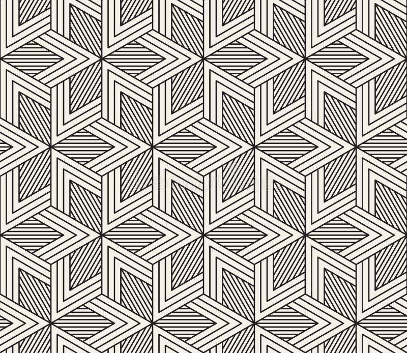 seamless vektor för modell Modern stilfull abstrakt textur Upprepa geometriska tegelplattor royaltyfria foton