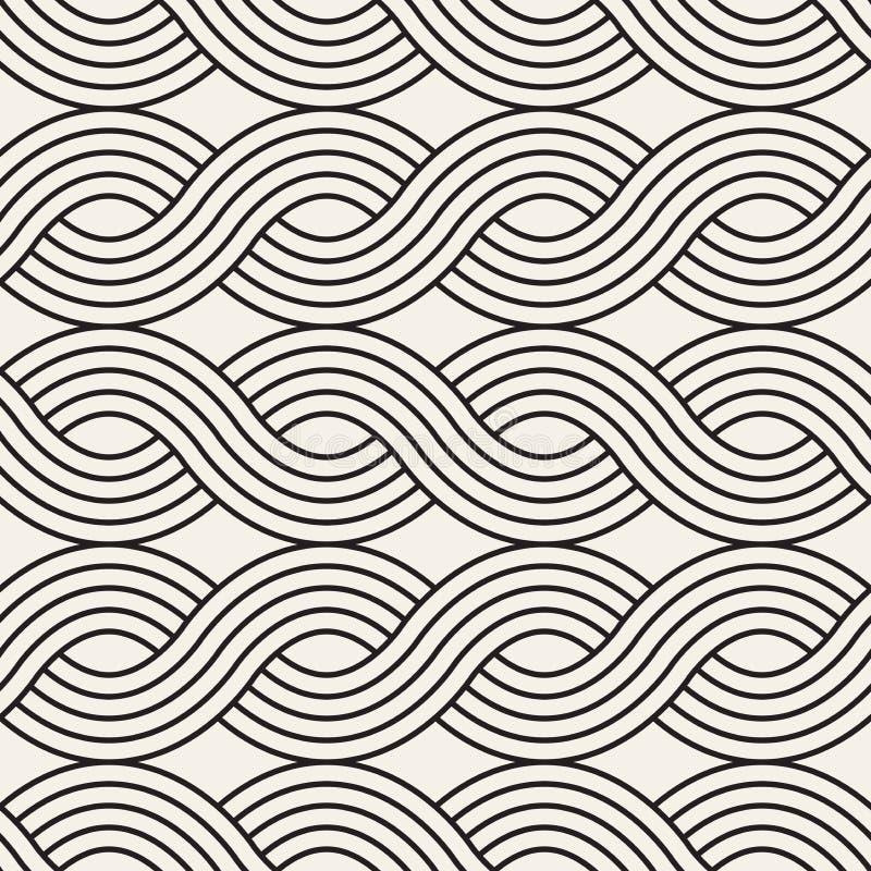 seamless vektor för modell Modern stilfull abstrakt textur Upprepa krabb geometrisk tilesn royaltyfri illustrationer