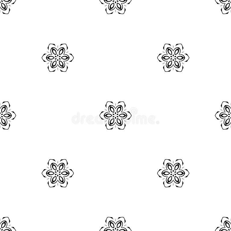 seamless vektor för modell Upprepa som är geometriskt svart white fotografering för bildbyråer
