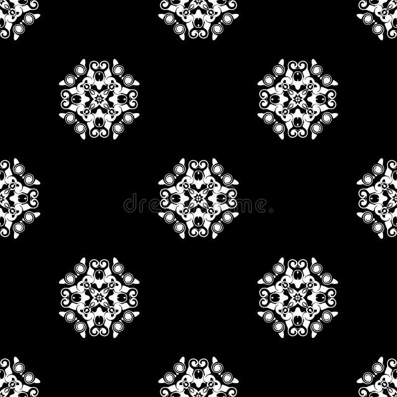 seamless vektor för modell Upprepa som är geometriskt svart white arkivfoto