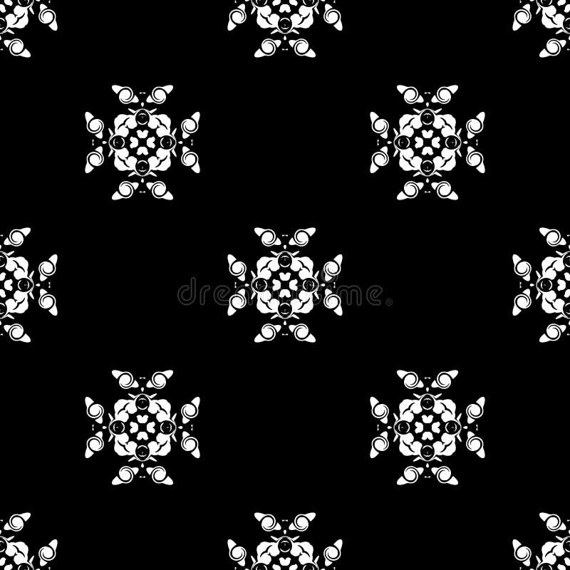 seamless vektor för modell Upprepa som är geometriskt svart white royaltyfri foto
