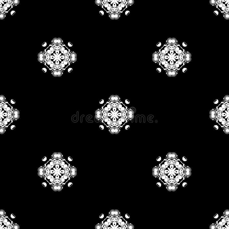 seamless vektor för modell Upprepa som är geometriskt svart white arkivbilder