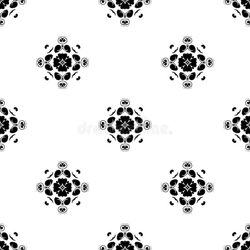 seamless vektor för modell Upprepa som är geometriskt svartvit se arkivfoto
