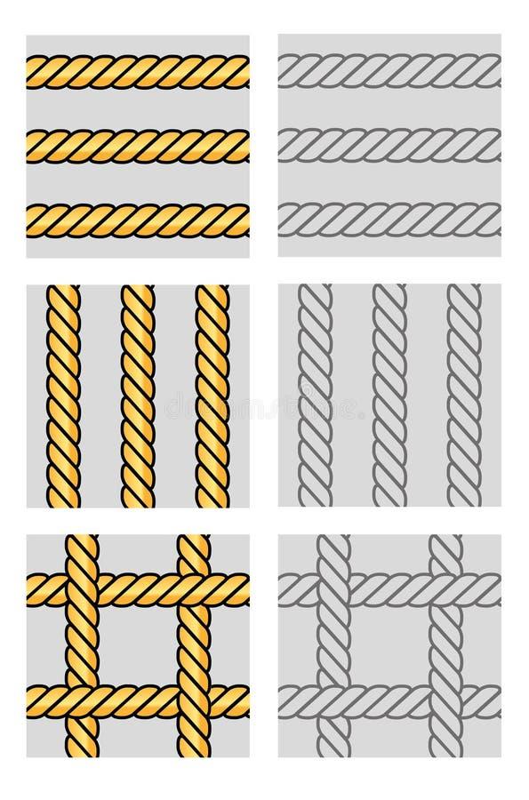 seamless vektor för rep royaltyfria foton