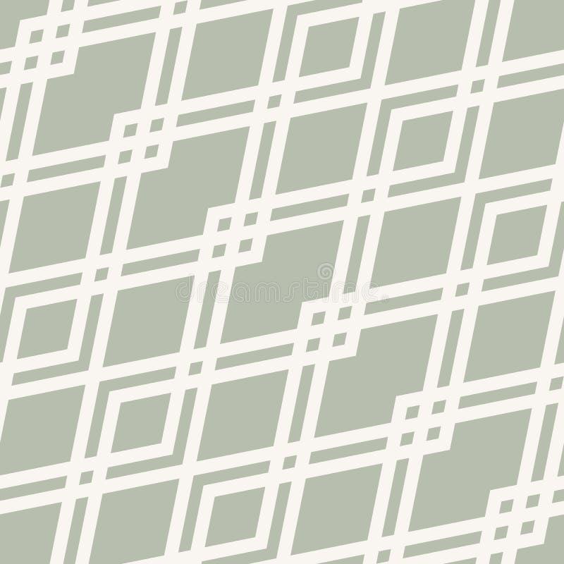 seamless vektor f?r abstrakt geometrisk modell Subtilt vitt och grönt diamantraster royaltyfri illustrationer