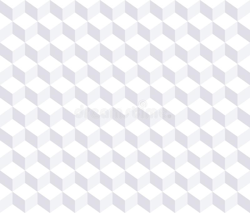 seamless vektor f?r modell Vit bakgrund 3d stock illustrationer