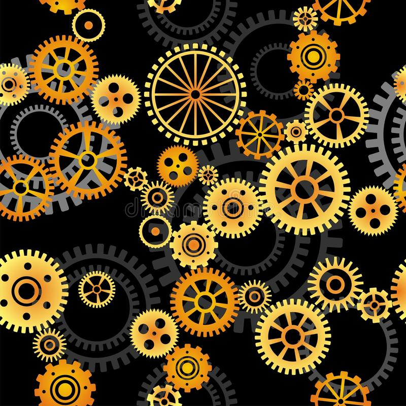 Seamless vektorbakgrund - kugghjul stock illustrationer