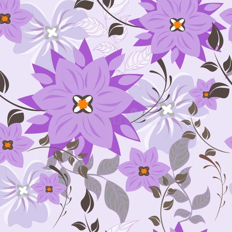 seamless vektorwallpaper för blom- modell För friktion för modell för lätt danande sömlös precis all grupp in i provkartastång stock illustrationer