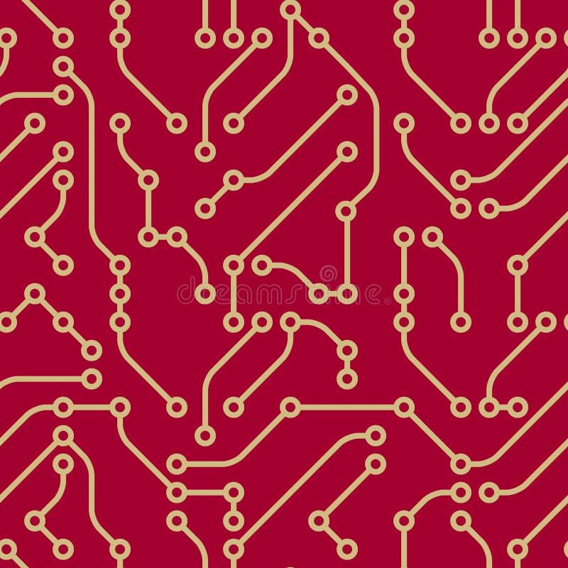 seamless vektorwallpaper för elektronik vektor illustrationer