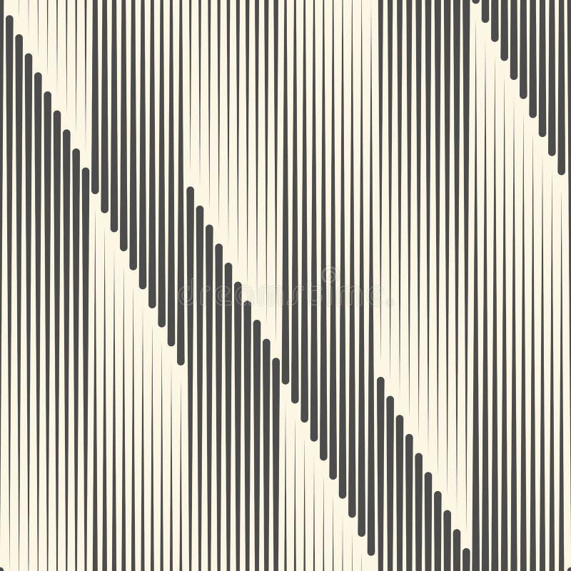 Seamless Vertical Line Background. Vector Monochrome Graphic Design stock illustration