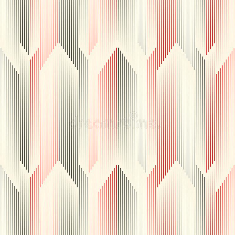 Seamless Vertical Line Pattern. Abstract Arrow Background royalty free illustration