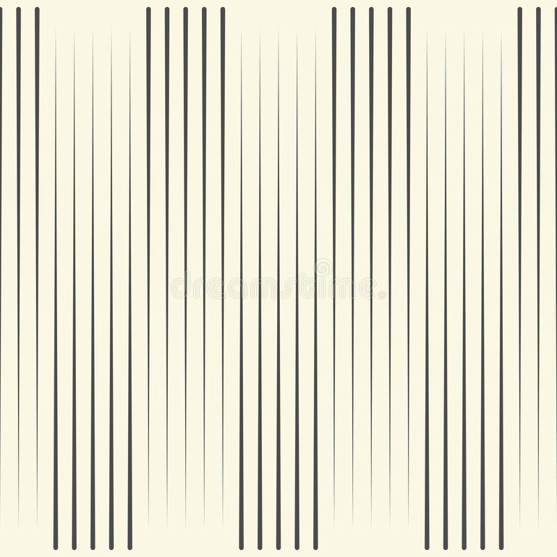 Seamless Vertical Line Pattern. Vector Black and White Stripe Ba royalty free illustration