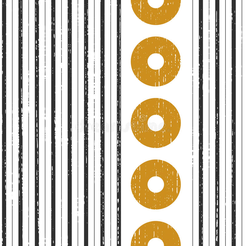 Seamless Vertical Stripe and Circle Pattern vector illustration
