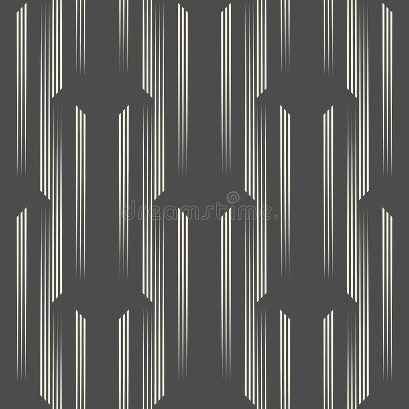 Seamless Vertical Stripe Pattern. Vector Black and White Line Ba royalty free illustration