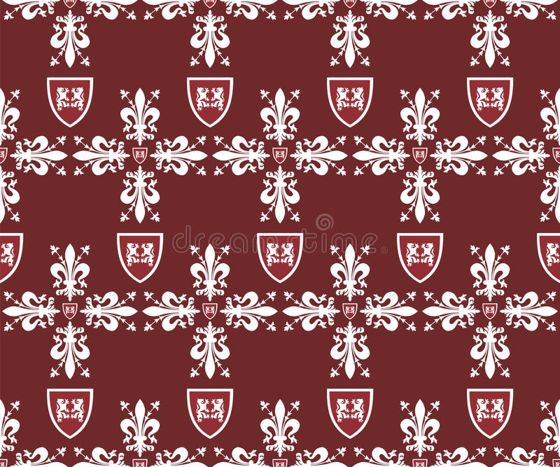 Download Seamless Victorian Royal Texture With Fleur-de-lis Stock Image - Image: 18199181
