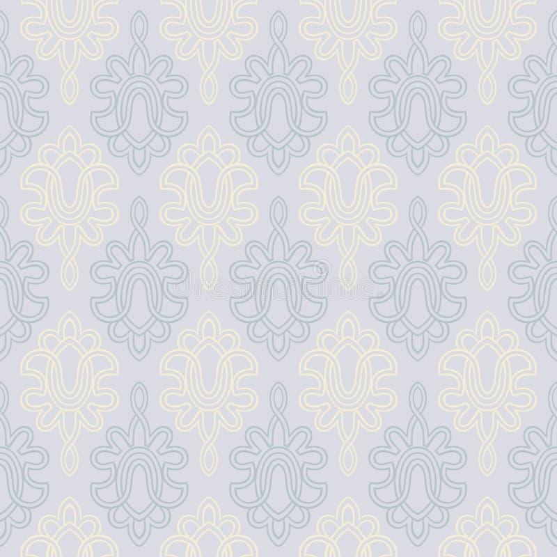 seamless victorianwallpaper för bakgrund royaltyfri illustrationer