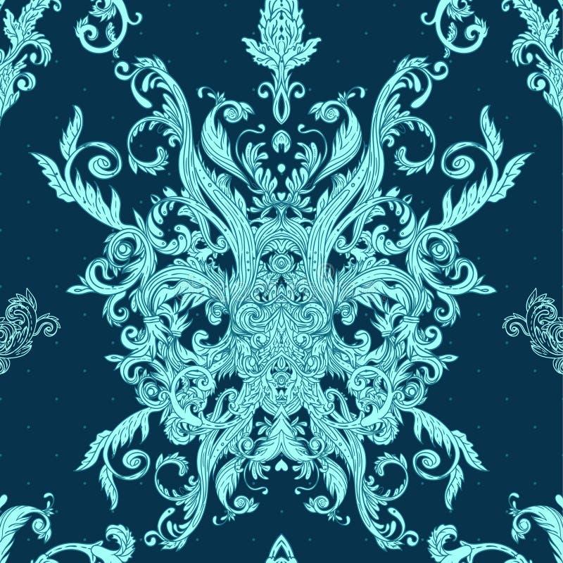 Seamless vintage baroque pattern stock photo