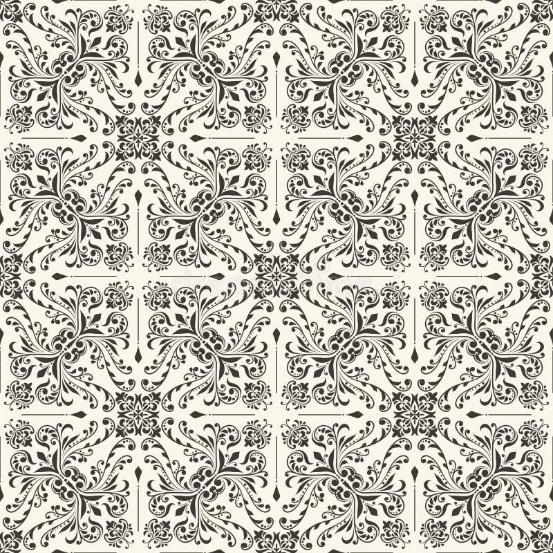 Seamless vintage pattern. Seamless vintage floral wallpaper pattern vector illustration