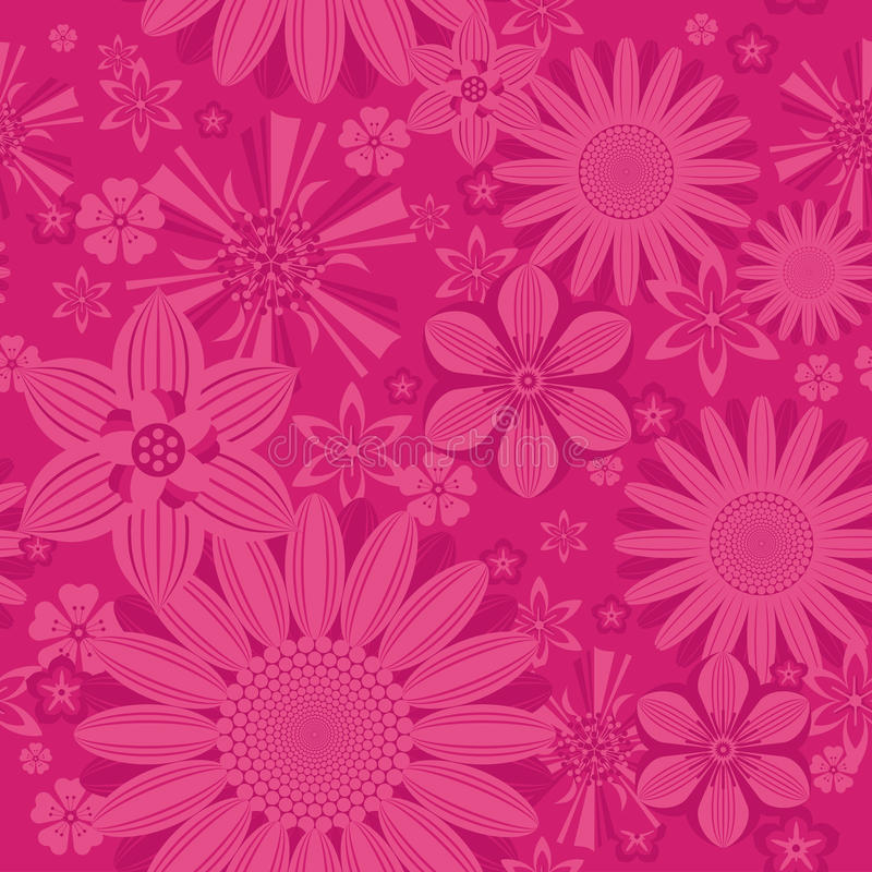 Seamless vintage flower pattern on background vector illustration