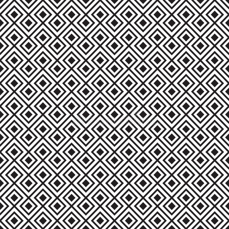 Seamless vintage geometric line tile pattern. royalty free illustration