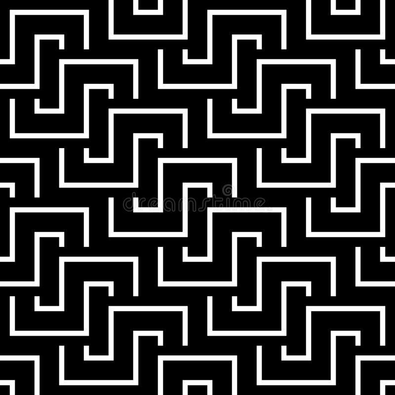 Seamless vintage geometric pattern. stock illustration