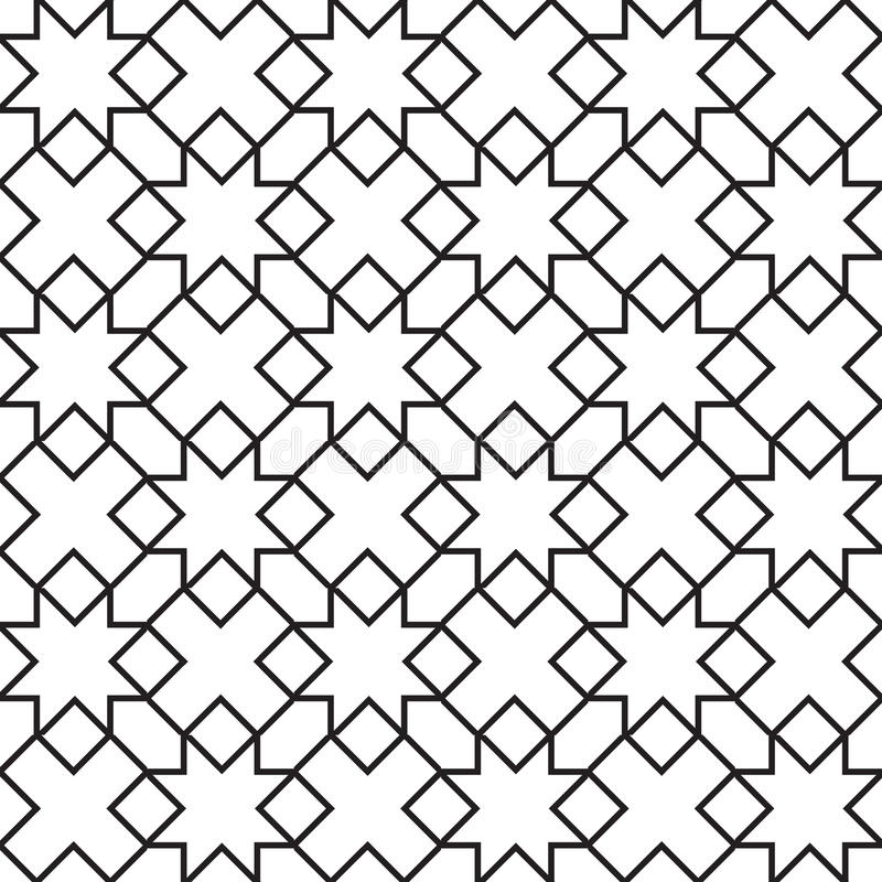 Seamless vintage geometric pattern. royalty free illustration
