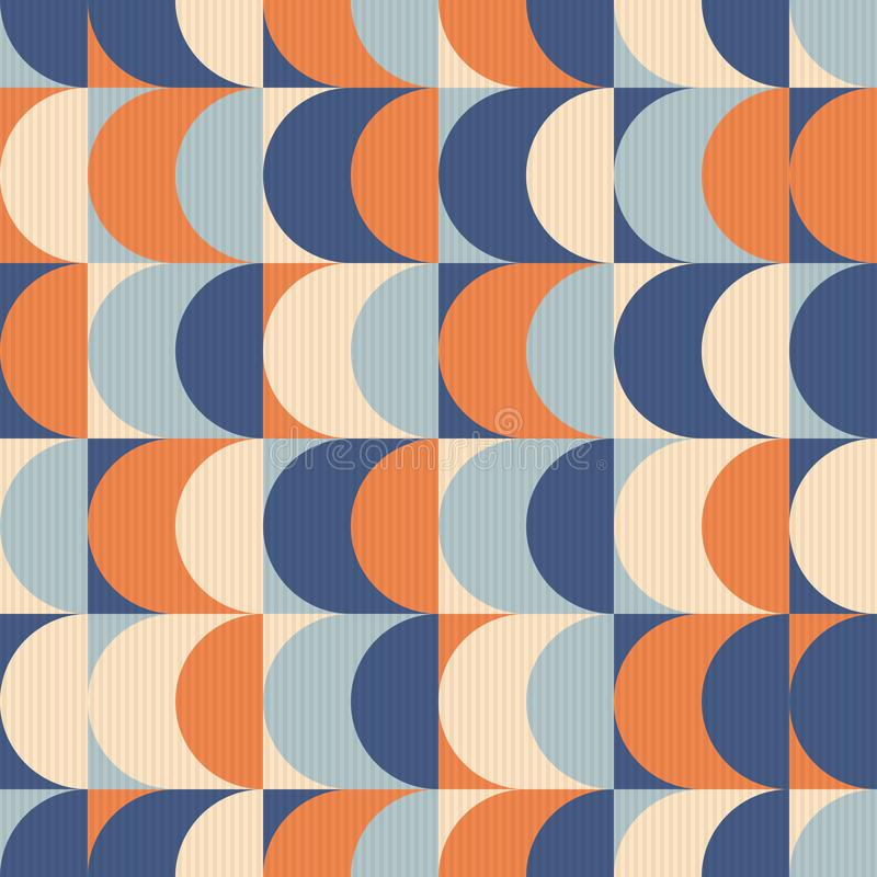 Seamless vintage geometric pattern stock illustration