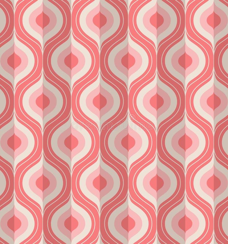 Seamless vintage geometric pattern royalty free illustration