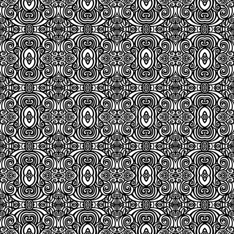 Seamless Vintage Lace Pattern (Vector). Hand Drawn Tile Texture, Ethnic Ornament vector illustration