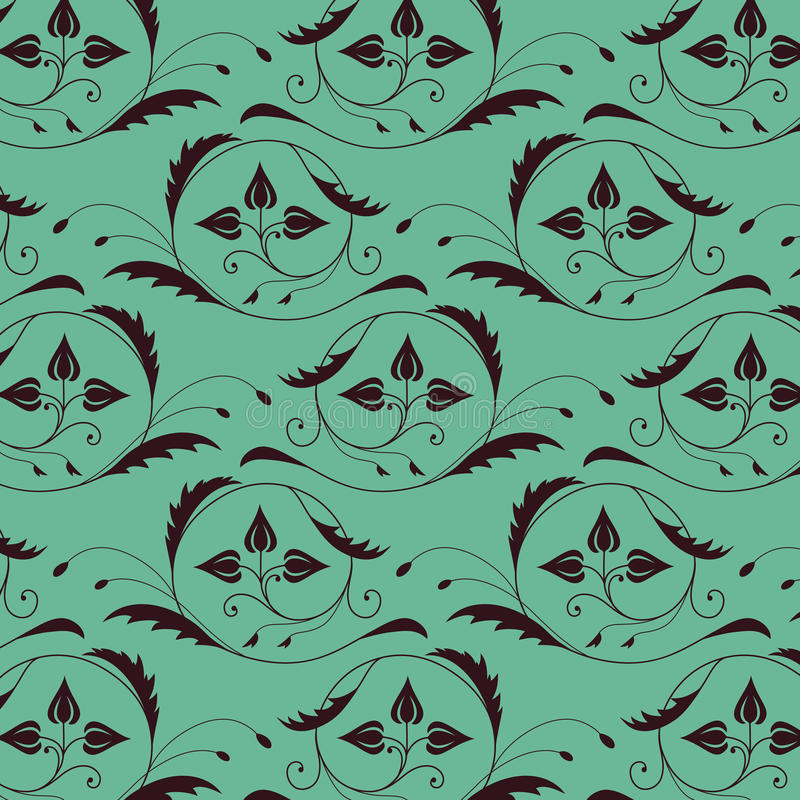 Seamless vintage pattern with color of sea royalty free illustration