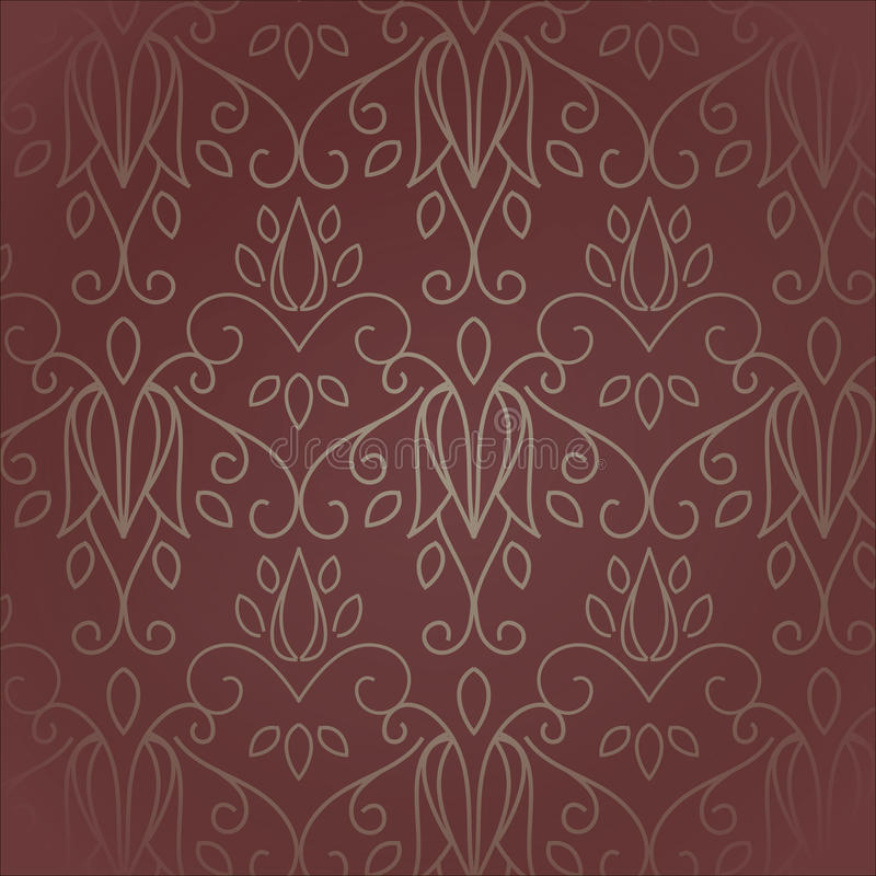 Seamless with vintage pattern. Seamless with vintage floral pattern. Vector illustration royalty free illustration