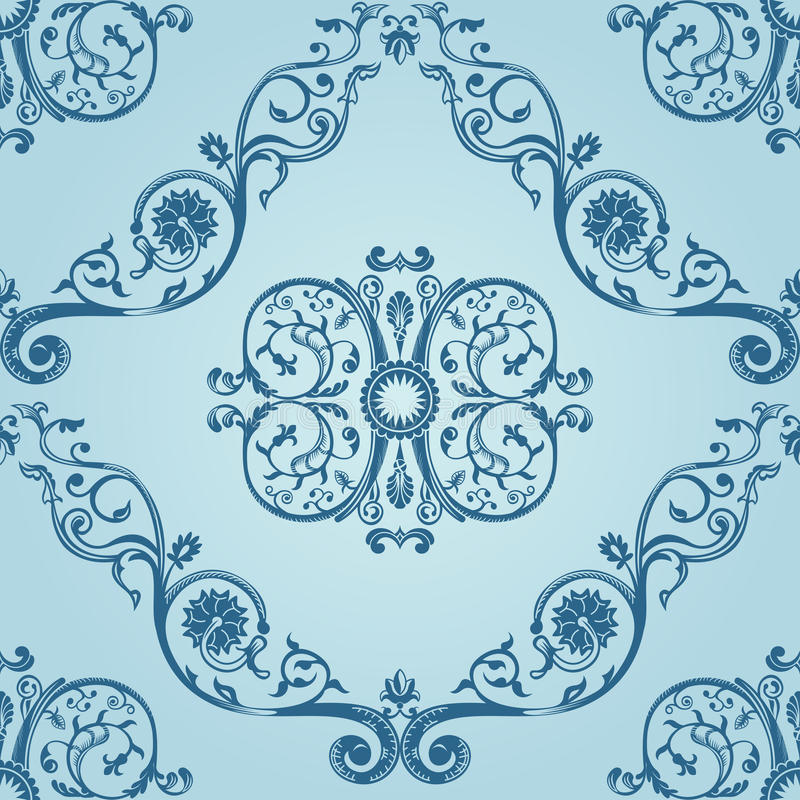 Download Seamless Vintage Pattern Texture Background Stock Vector - Image: 19785315
