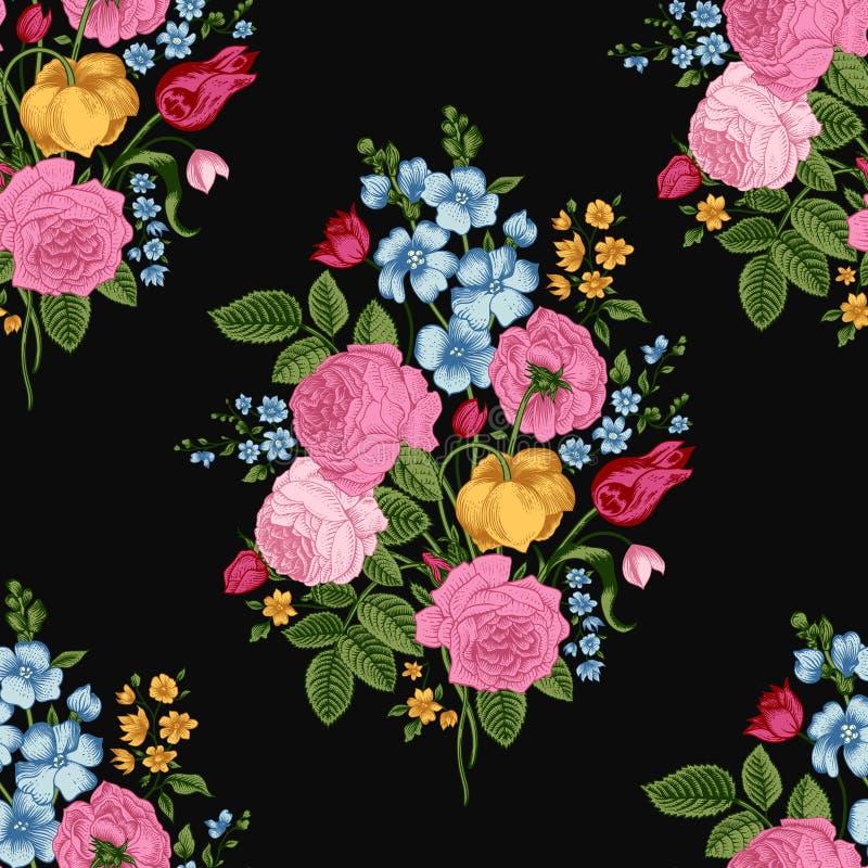 Seamless vintage pattern royalty free illustration