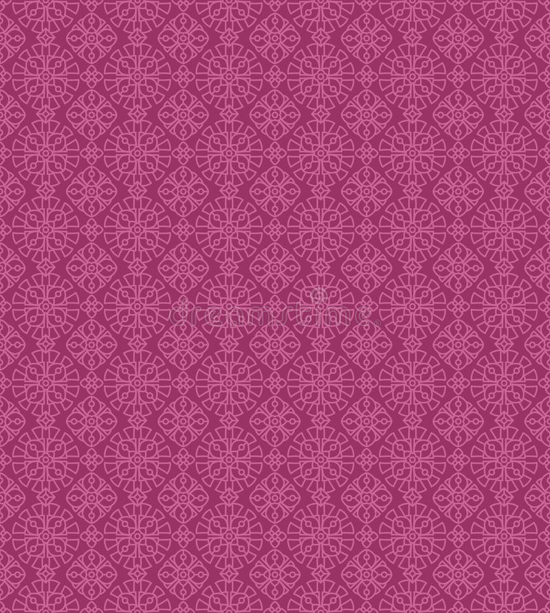 Seamless vintage two-color pattern stock illustration
