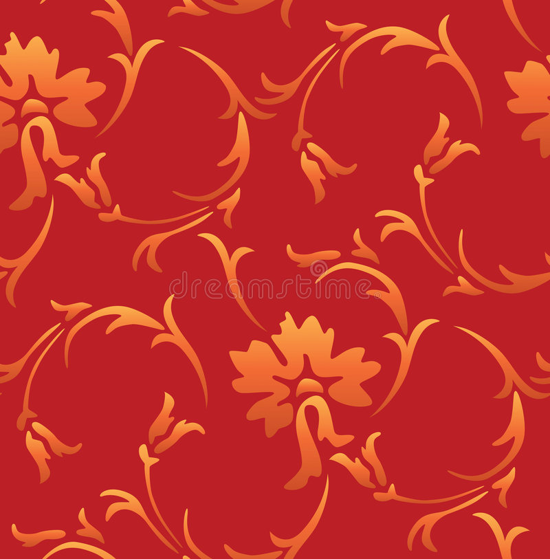 Seamless Vintage Wallpaper vector illustration