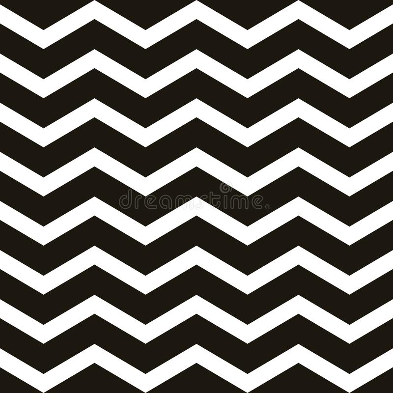 Seamless vintage zigzag chevron pattern. Repeating geometric template. EPS 10 vector illustration
