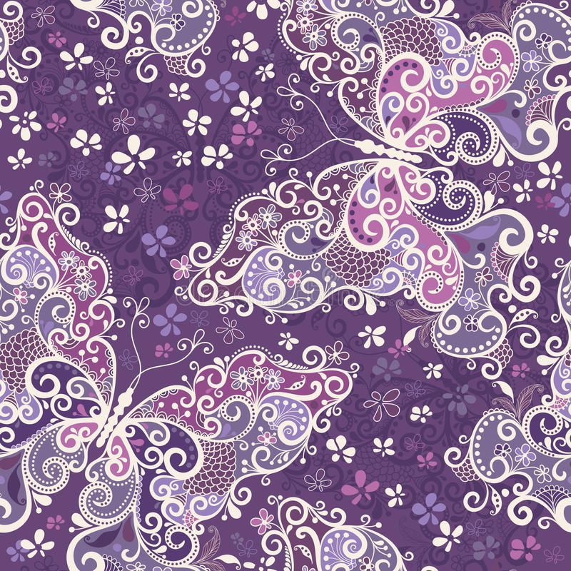 Free Seamless Violet Motley Pattern Stock Image - 27631951