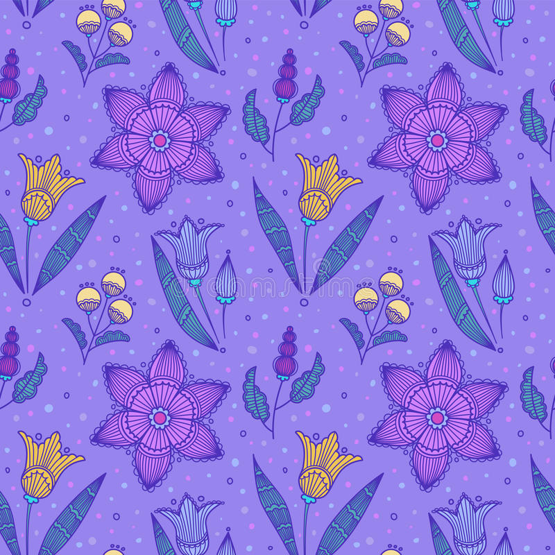 Download Seamless Violet Striped Flowers Royalty Free Stock Images - Image: 26407459
